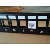 Buy cheap Lansan UTP Cat6 24 Port Patch Panel / Network Patch Panel With Dust Cover from wholesalers