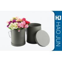 China Fancy Round Cardboard Boxes With Lids / Flower Bouquet Boxes Color Customized wholesale