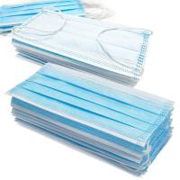 China Anti Germs Disposable Surgical Mask , 3 Ply Disposable Blue Earloop Face Mask wholesale