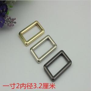 China Wholesale bag hardware 32 mm gold zinc alloy metal adjustable square buckle for bag wholesale