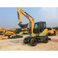 China All Wheel Drive 4 Wheeled Mini Excavator , 6 Ton Excavator For Earth Moving XE60WA wholesale