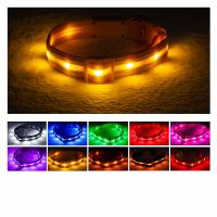China Reflective LED Dog Collar USB Rechargeable Water Resistant Running Over 8 Hours wholesale