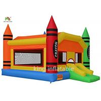 China Attractive Inflatable Bouncy Castle Jumping House With Custom Logo Printed on sale