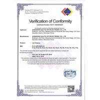 SHENZHEN KAILITE OPTOELECTRONIC TECHNOLOGY CO., LTD Certifications
