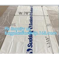 China pe bag pallet cover plastic bag sqaure bottom bag, 54 x 44 x 96 1 Mil ldpe Clear Pallet Covers, top covers clear plasti wholesale