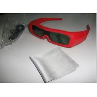 China Red Universal Active Shutter 3D TV Glasses Reaction LCD Lenses wholesale