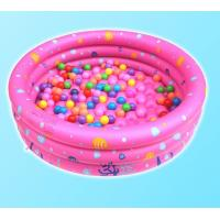 China Dots Printed Inflatable Park Pools , Blow Up Swimming Pools With 3 Rings Circle wholesale