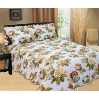 China Microfiber Printed Queen Size Bed Quilts , Optional Colors Bed Cover Sets wholesale