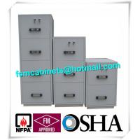 China Steel 4 Drawers Fire Resistant File Cabinets , Fireproof File Cabinets For Documents wholesale