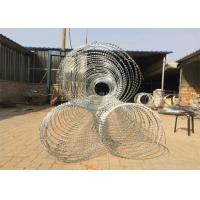 China Concertina Razor Barbed Wire / Hot Dipped Galvanized Razor Wire wholesale