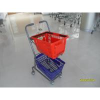 China 4 Swivel 3 Inch PVC Casters Supermarket Shopping Trolley Used In Small Shop wholesale