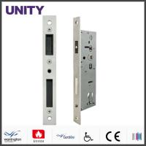 China Fire Test Mortice Door Lock Anti-thrust Nightlatch CE Marking Satin Stainless Steel on sale
