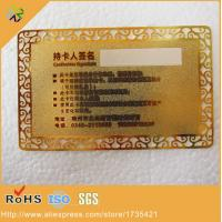 China white signature panel stainless steel material metal gold business card gold plated metal gold card wholesale