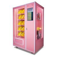 China Automatic Soft Drink Vending Machine , 24 Hours Pink Sweet Commercial Vending Machine wholesale