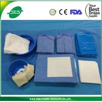 China Standard Sterile Cardiovascular drape Kits With 2 Femoral&2Radial Holes wholesale