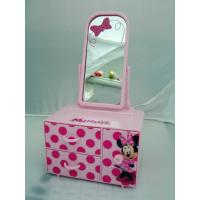 China JEWERLY MIRROR BOX WITH 3 DRAWERS (OEM PRINTING IS WELCOME) wholesale