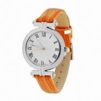 China Fashionable Watch for Ladies' with Leather Strap and Alloy Case, Fashionable Style, Best off 30% wholesale