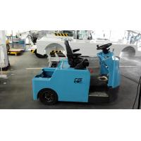 China Blue Baggage Towing Tractor Carbon Steel Material With Lead Acid Battery wholesale