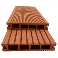 China Supply hollow grooved plastic wood floor 135*25 outdoor swimming pool anti-skid floor environmental protection recycled wholesale
