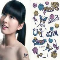 China Personalized Water transfer Temporary body art tattoo designs sticker for girls on sale