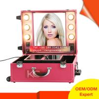 China Professional Elegant & Quality PVC makeup case with lights wholesale