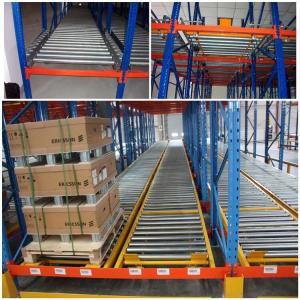 China Custom Size Warehouse Pallet Live Racking Multi Function Powder Coating Finish on sale