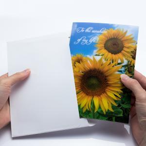China Holiday Celebration Thank You 3D Lenticular Greeting Card CMYK Printing wholesale