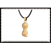 China Charming 24K Gold Plated Jewelry With Gift Box , 24Kt Gold Peanut Pendant For Lover wholesale