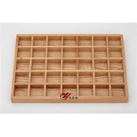 China Large Capacity Natural Wooden Jewelry Display Stands / Rings And Eerring Display Tray 7*5 wholesale