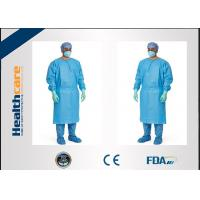 China Red / Green Disposable Surgical Gowns Against Liquid Biodegradable Elastic Cuff 16-80gsm wholesale