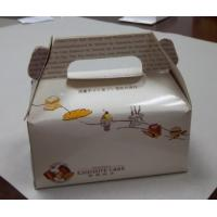 China White Food Cardboard Carry Boxes For Cake, Bread, Hamburger Packaging wholesale