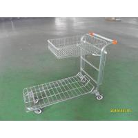 China Supermarket Warehouse Trolley cart with square steel tube base and logo on handle wholesale