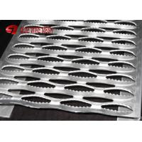 Buy cheap Traction Aluminum Bar Galvanized Steel Grating Stair Treads , Perforated Grip from wholesalers