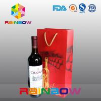 China Biodegradable Customized Paper Bags With PP Rope For Red Wine Bottles Packaging wholesale