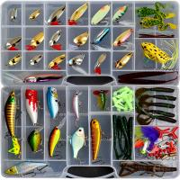 China Hot sale Biomimetic Fishing Lures Lure fishing tackle Fishing Lure kit set Mixed color Size Weight Hook Soft Bait wholesale