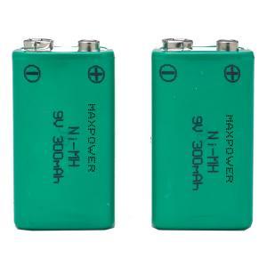China 300mAh 9V Prismatic NiMh Battery Packs for Multimeter CE UL Rohs wholesale