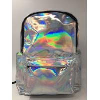China Customized Logo Laptop Messenger Bags Laser PU Hologram Backpack PU Material wholesale