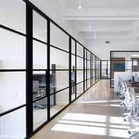 China Soundproof Office Glass Partition Walls Aluminum Frame Environment - Friendly on sale