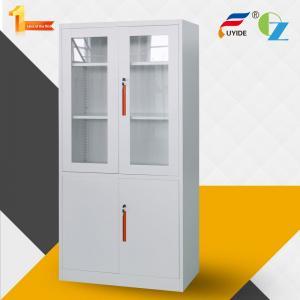 China Excellent quality office furniture KD glass&metal door steel cupboard/ steel cabinet wholesale