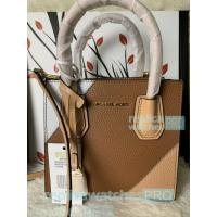 China New Knockoff Michael Kors Mercer Brown Genuine Leather Women's Bag wholesale