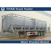 China Q235B 40ft Newport tank containers tanker trailer for Africa market , crude oil trailers on sale