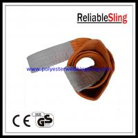China Double Ply 10 Ton flat polyester woven webbing sling / lifting web slings wholesale