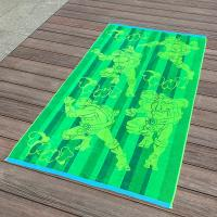 China Full Color Printed Jacquard Beach Towel Luxurious Feel With Ninja Turtle Patterns wholesale