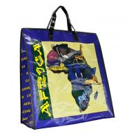 China Africa Map PP Woven Shopping Bags Black Edge 4c Printing Recycle wholesale