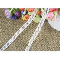 Polyester Ladder Water Soluble Chemical Lace Trim By The Yard Good Color Fastness