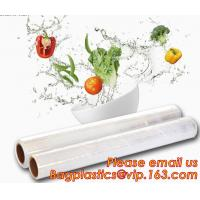 China Stretch And Fresh Re-usable Food Wraps Silicone Plastic Stretch Cling Film, Food grade LDPE cling film,LDPE stretch film wholesale