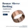 China CuSn8P Bronze Sleeve Bushings With Graphite Qsn8-0.3+ Graphite Bronze Bushings 09G wholesale