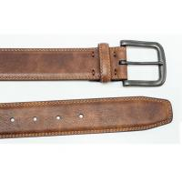 China PU Split Leather Casual Leather Belts 100 - 125 CM Length With Customized Logo wholesale
