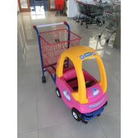 China 95 L Basket Volume Childrens Metal Shopping Trolley Travelator Casters CE / GS / ROSH wholesale