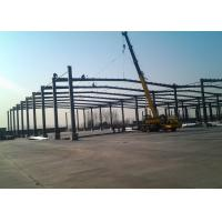 China Prefabricated Steel Frame Buildings / Pre Built Large Space Steel Buildings Multi Span wholesale
